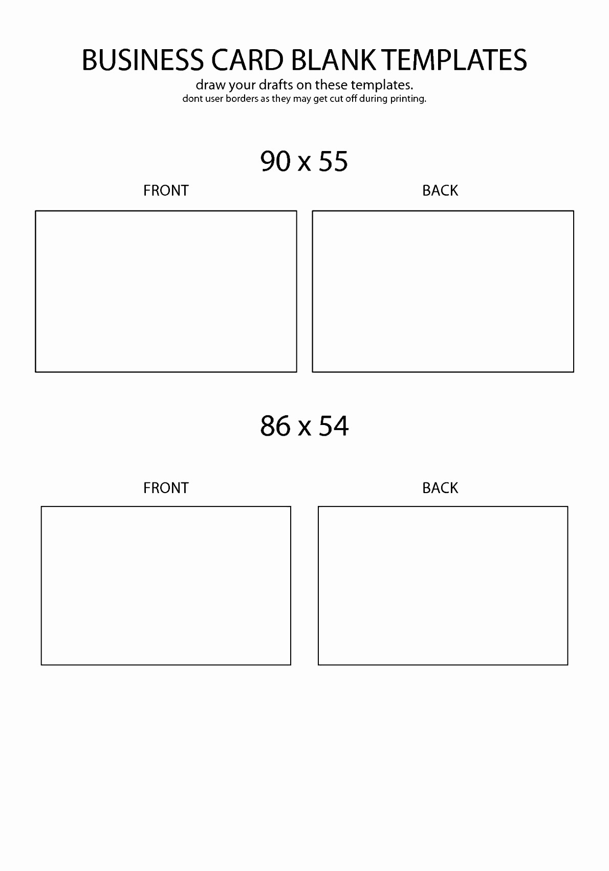 Business Card Template Word Doc Unique 5 Free Template for Business Cards Word Awifa