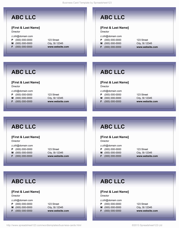 Business Card Template Word Free Elegant Business Card Templates for Word