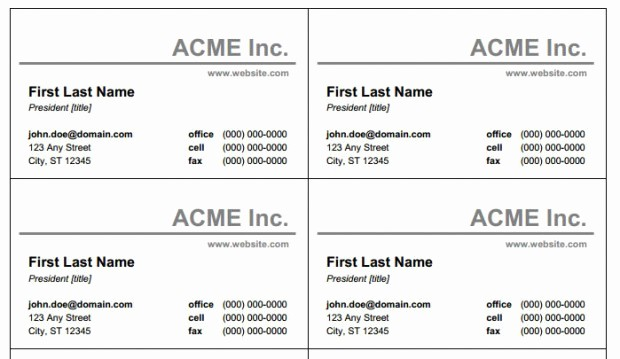 Business Card Template Word Free Unique Word Business Card Template Beepmunk