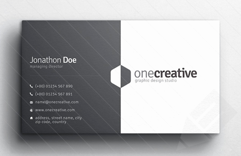 Business Card with Picture Template Awesome Business Card Design Slim Image