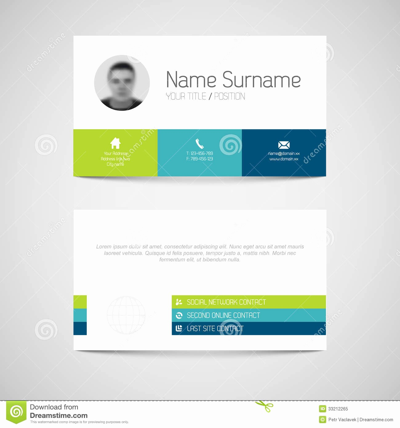 Business Card with Picture Template Best Of Business Card Template