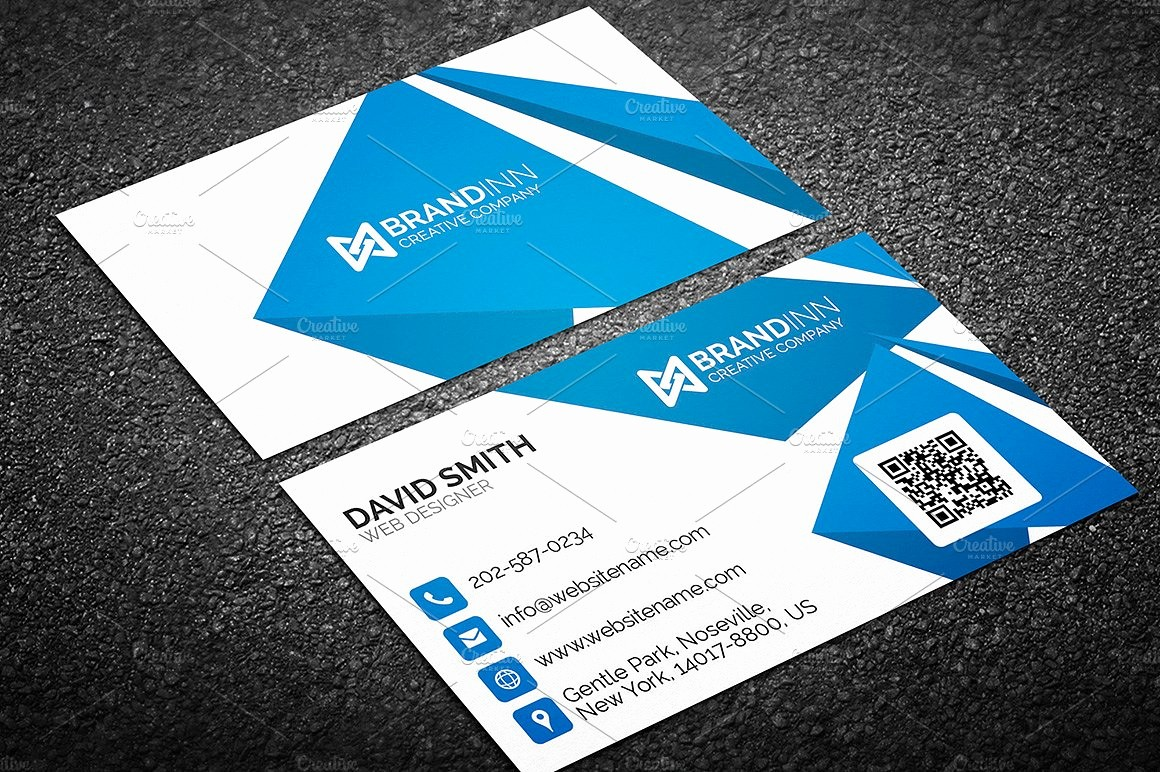 Business Card with Picture Template Best Of Creative Abstract Blue Business Card Business Card
