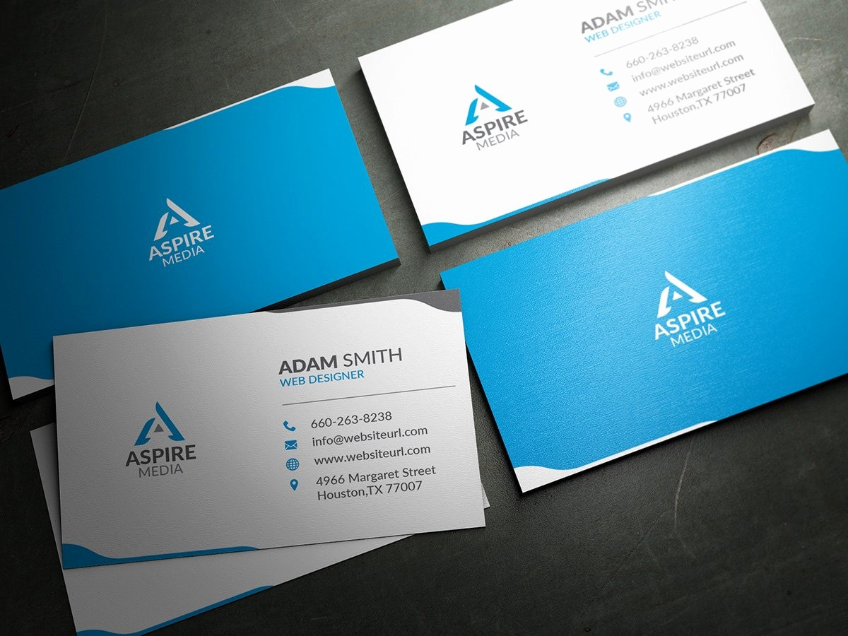 Business Card with Picture Template Best Of Simple Clean Business Card Template Business Card