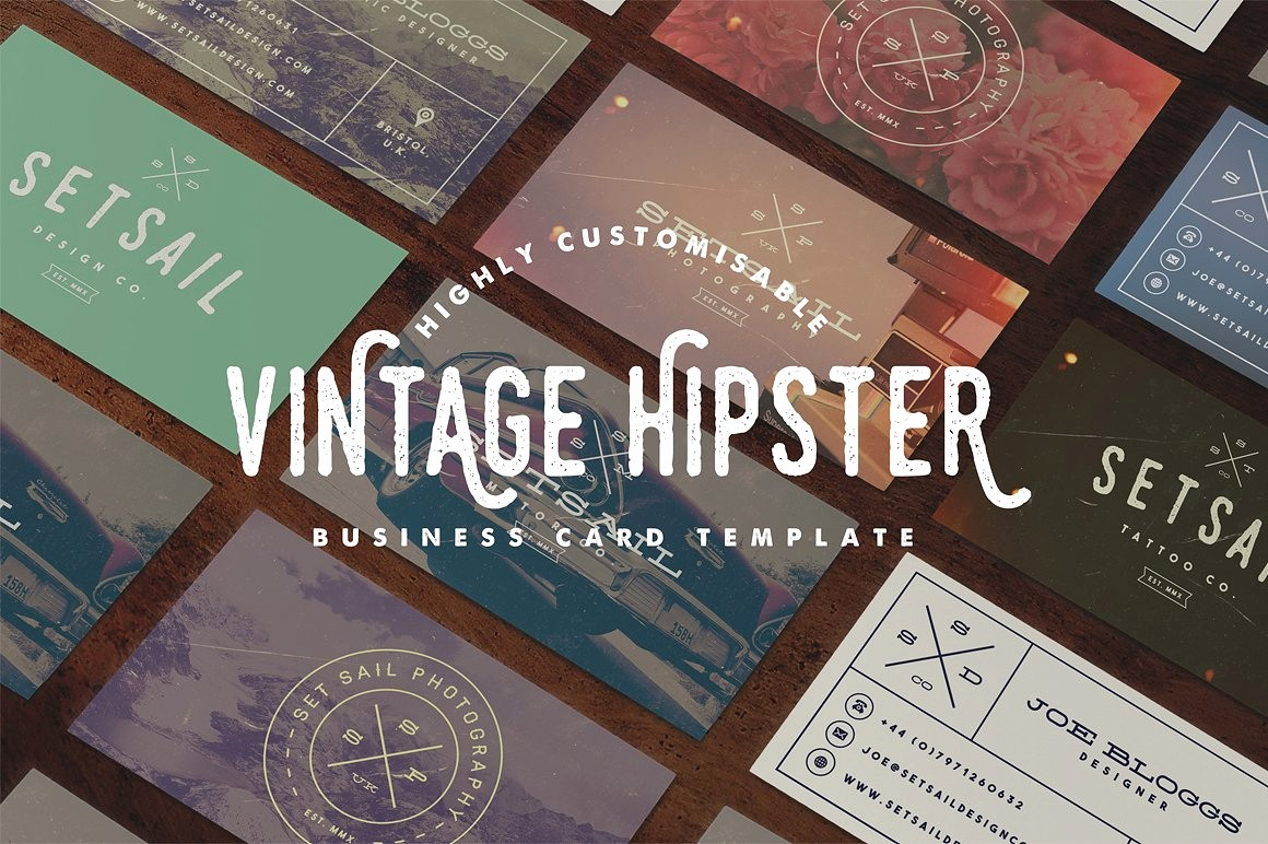 Business Card with Picture Template Best Of Vintage Business Card Template Business Card Templates