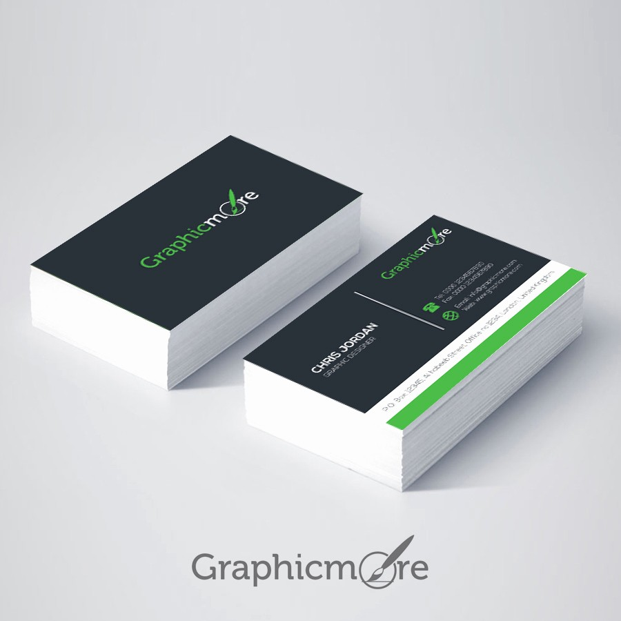 Business Card with Picture Template Elegant Business Card Template Ai