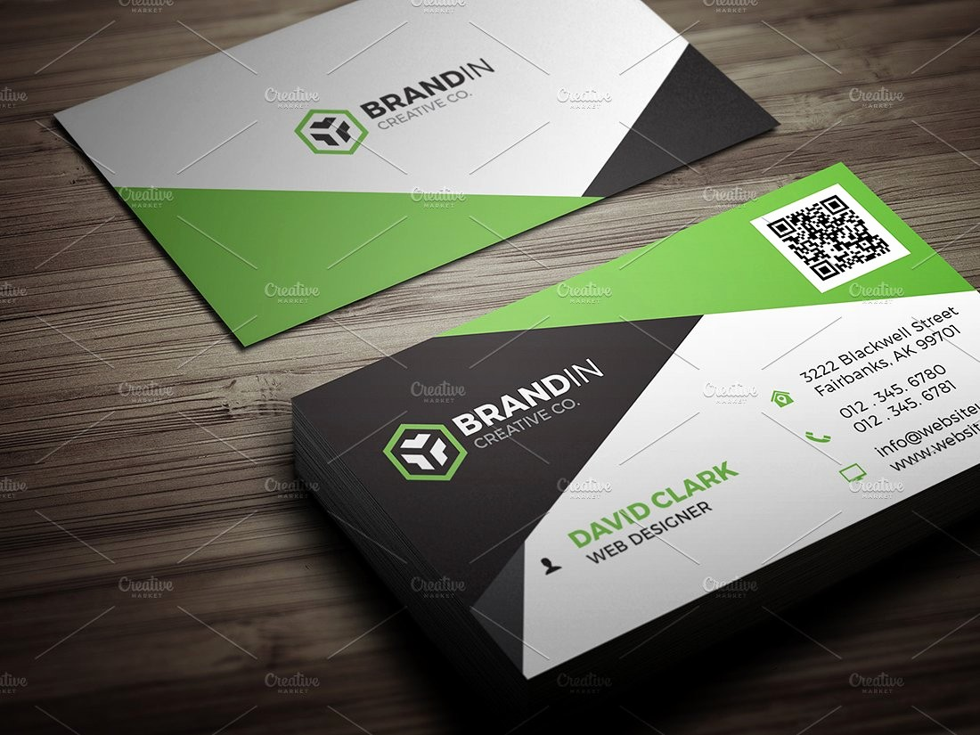 Business Card with Picture Template Elegant Modern Business Card Template Business Card Templates