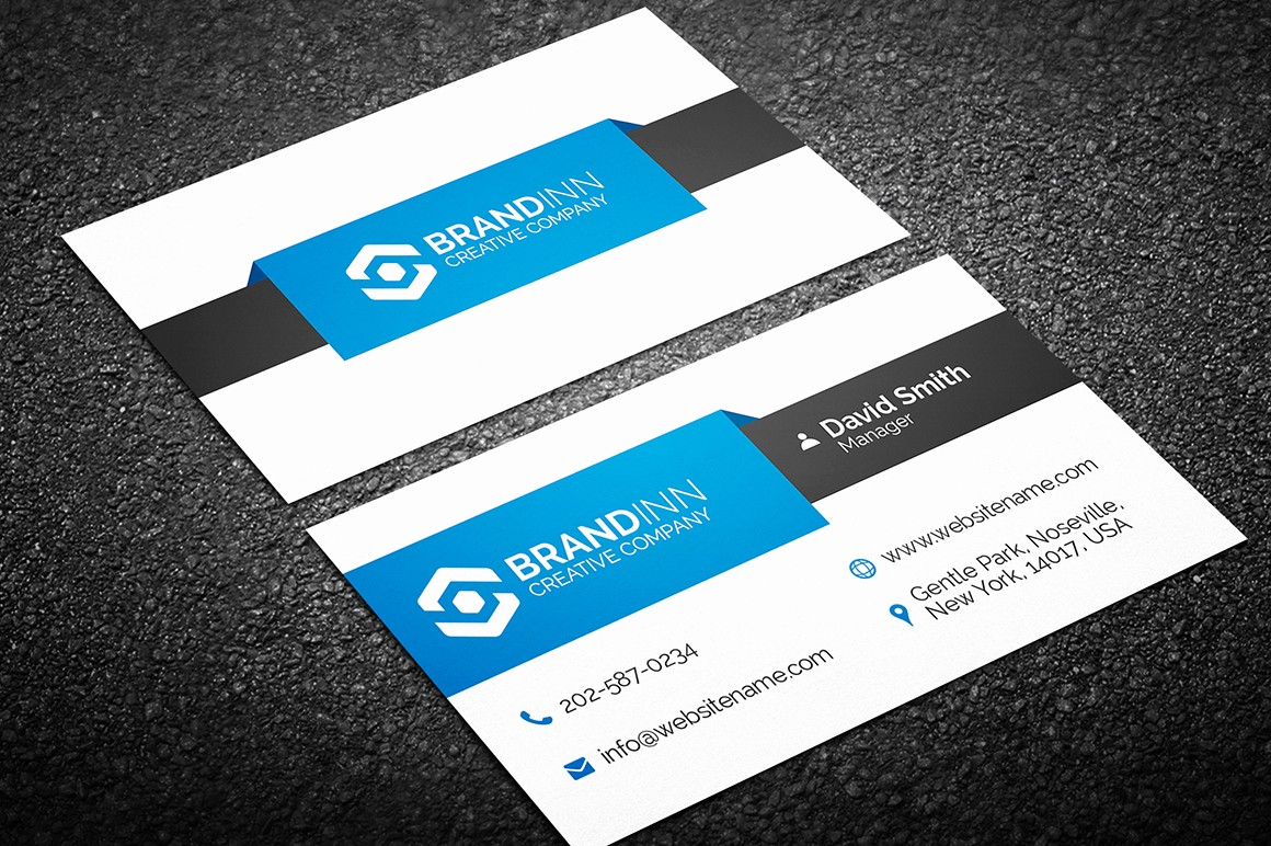 Business Card with Picture Template Elegant Simple Business Card Archives Graphic Pick