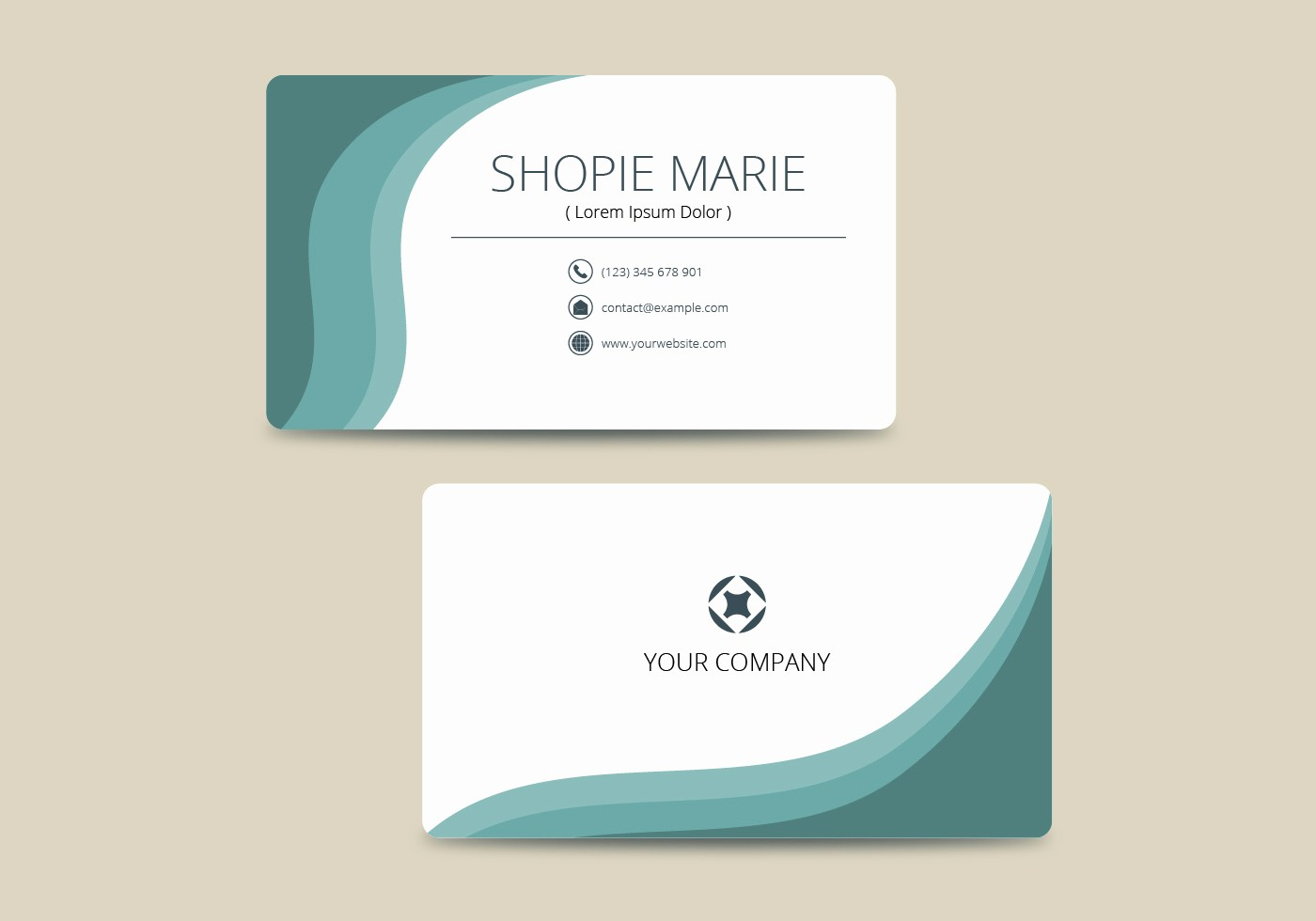 Business Card with Picture Template Fresh Business Card Template Free Vector Art Free