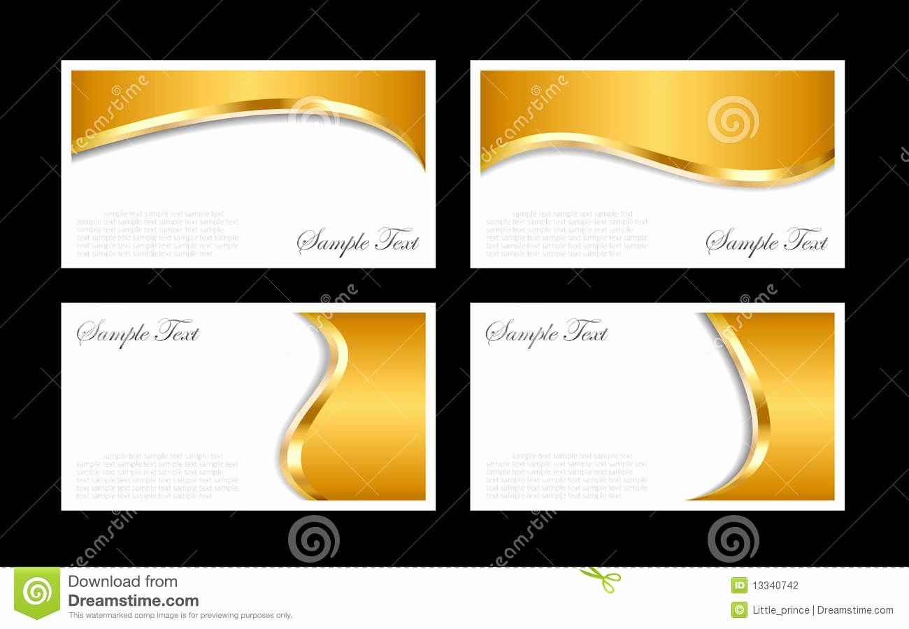 Business Card with Picture Template Fresh Gold Business Cards Templates Stock Vector Illustration