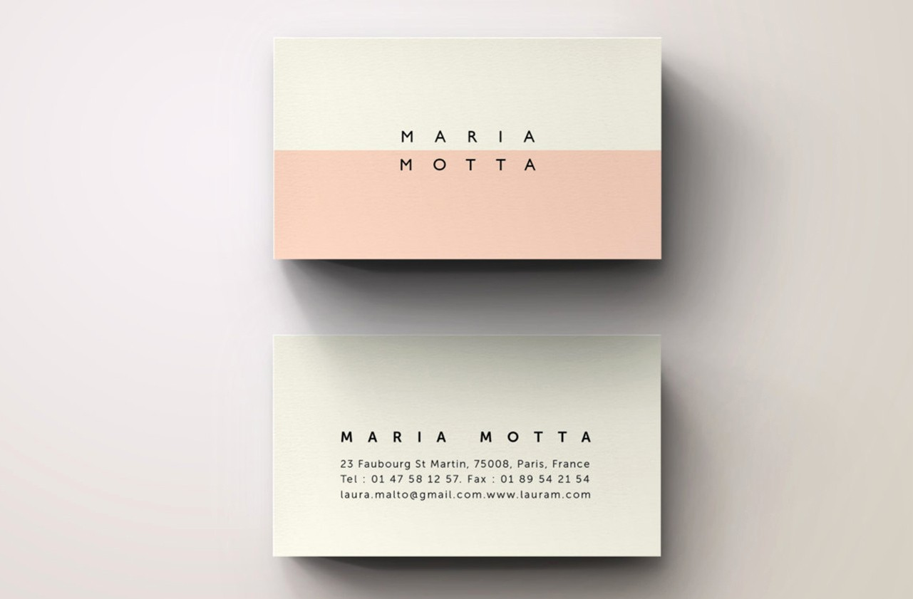 Business Card with Picture Template Fresh Pink Modern Business Card Template Business Card