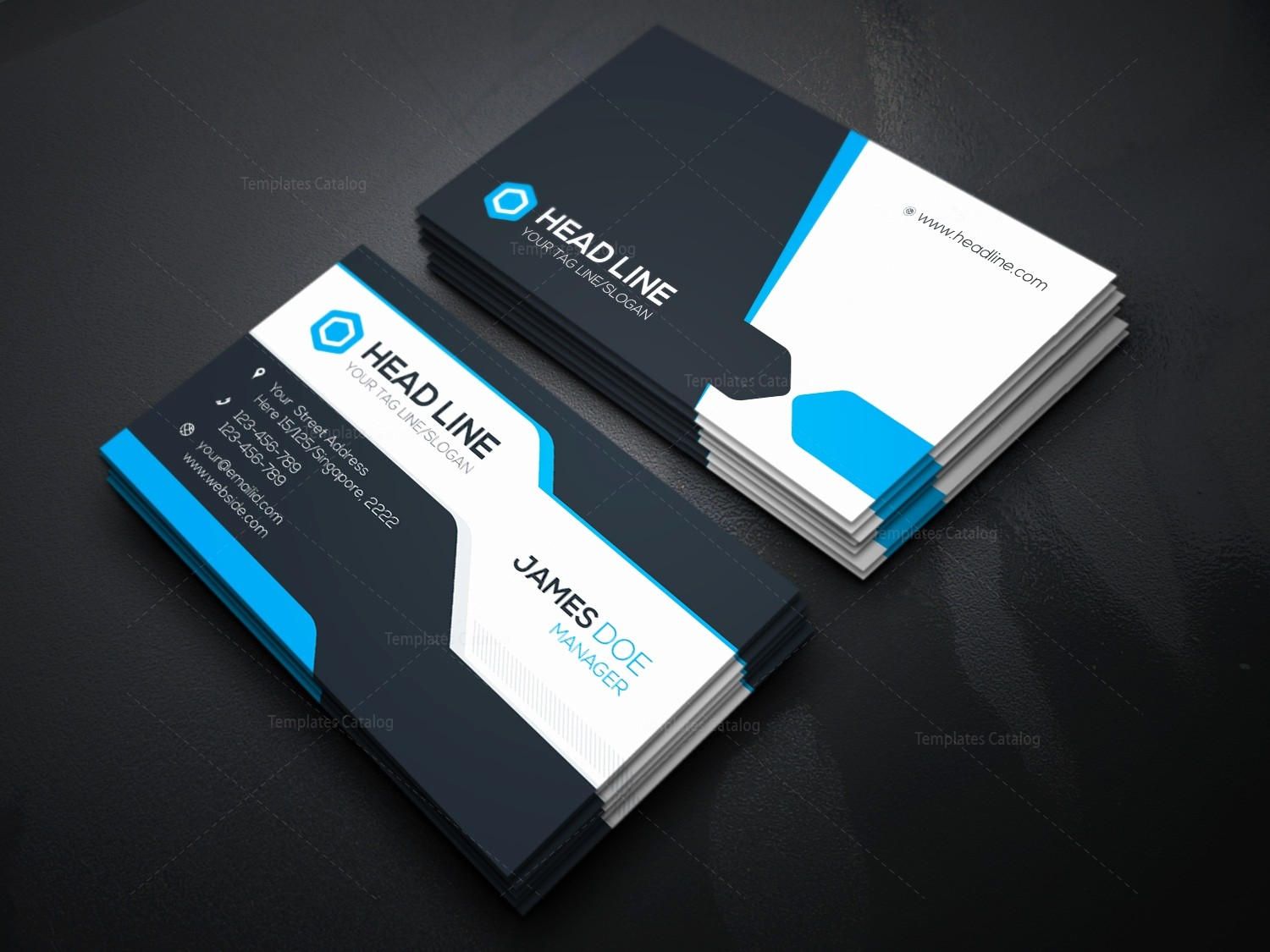 Business Card with Picture Template Fresh Stylish Visiting Card Template Template Catalog