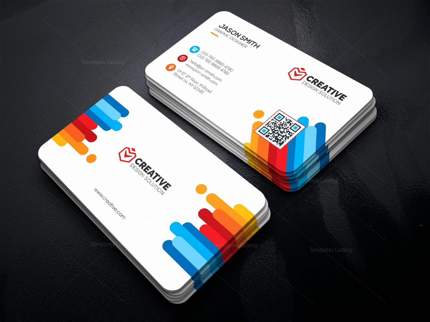 Business Card with Picture Template New Bright Business Card Template Template Catalog