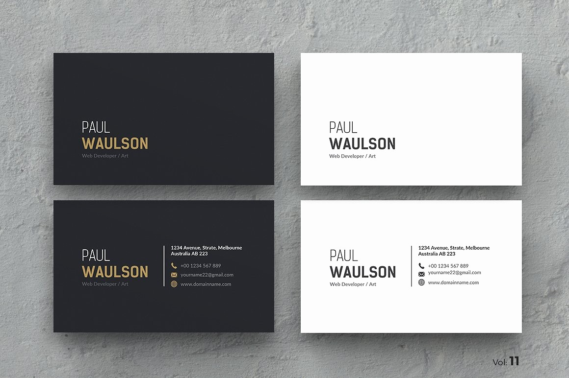 Business Card with Picture Template Unique Business Card Business Card Templates Creative Market