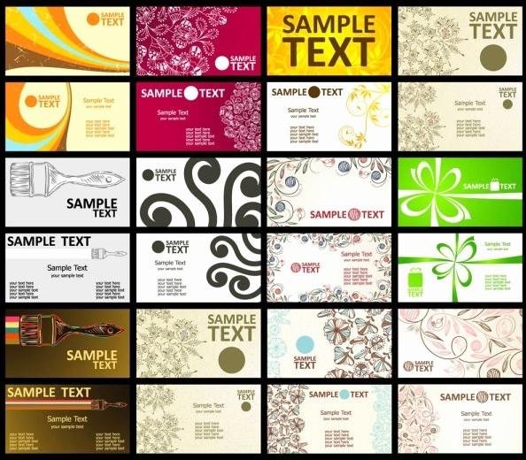 Business Cards Samples Free Download Awesome Business Card Template Free Vector