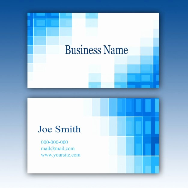 Business Cards Samples Free Download Elegant Blue Business Card Template Psd File