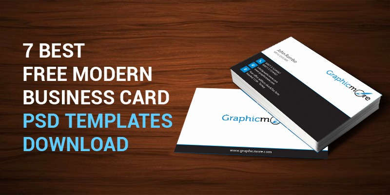 Business Cards Samples Free Download Fresh 7 Best Free Modern Business Card Psd Templates Download