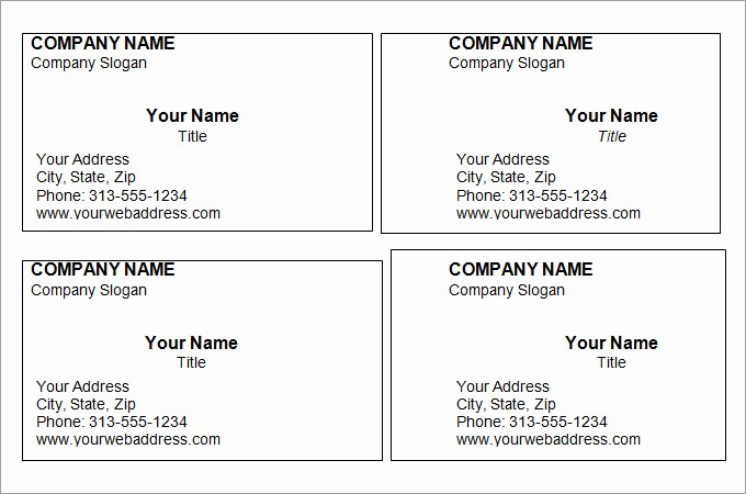 Business Cards Samples Free Download Fresh Free Printable Business Card Templates for Word