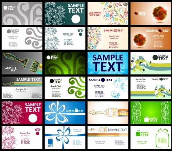 Business Cards Samples Free Download New Template Free Vector 12 907 Free Vector for
