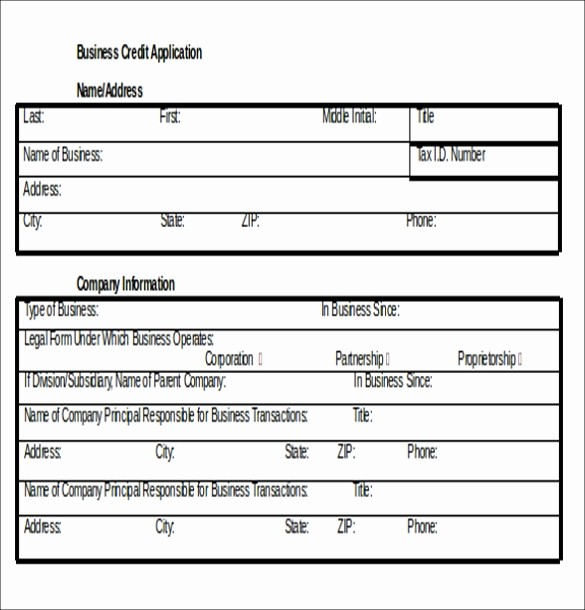 Business Credit Application form Template Awesome Credit Application Template – 13 Free Word Pdf Documents
