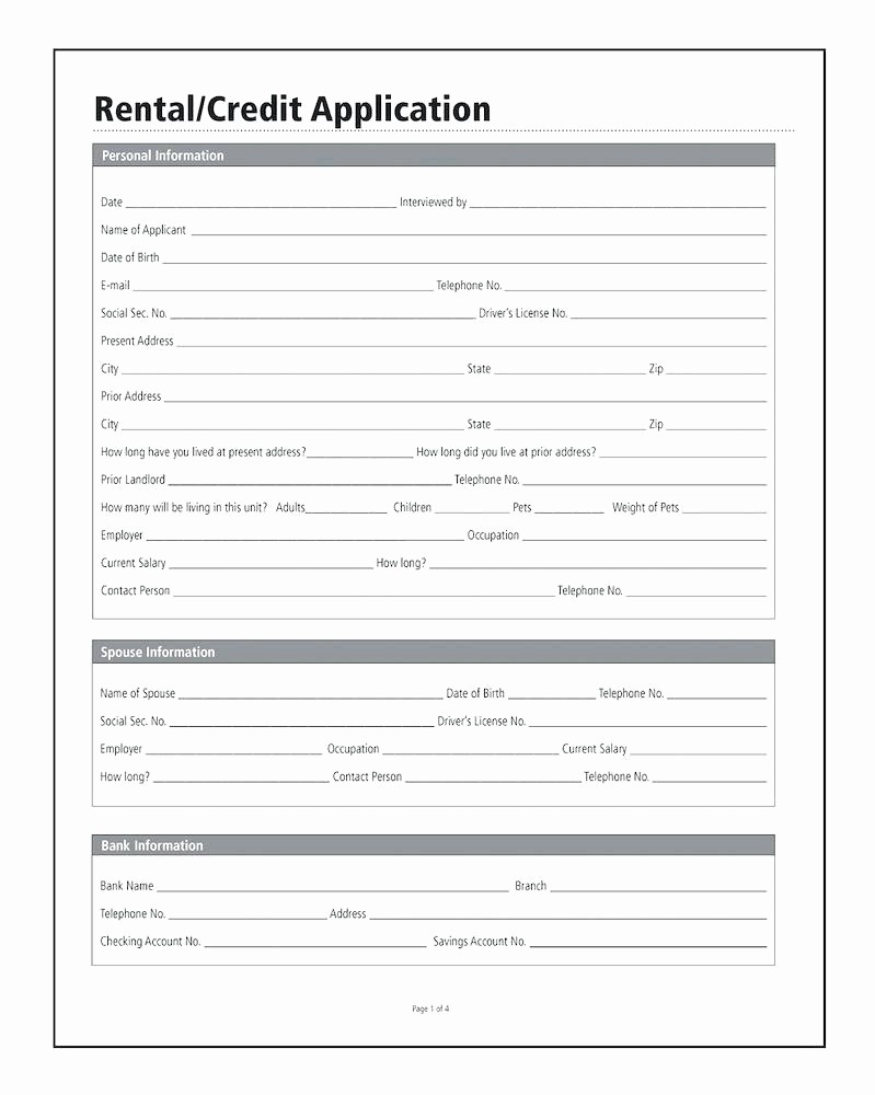 Business Credit Application form Template Beautiful Template Business Credit Application form Template