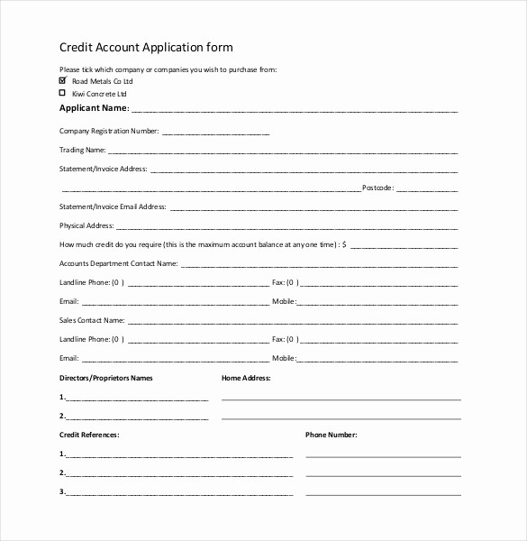 Business Credit Application form Template Lovely Credit Application Template 33 Examples In Pdf Word