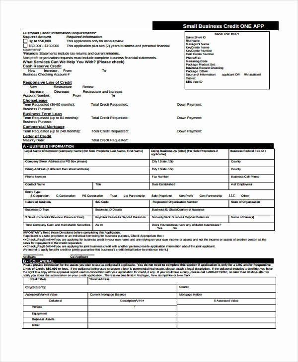 Business Credit Application form Template New 15 Credit Application form Templates