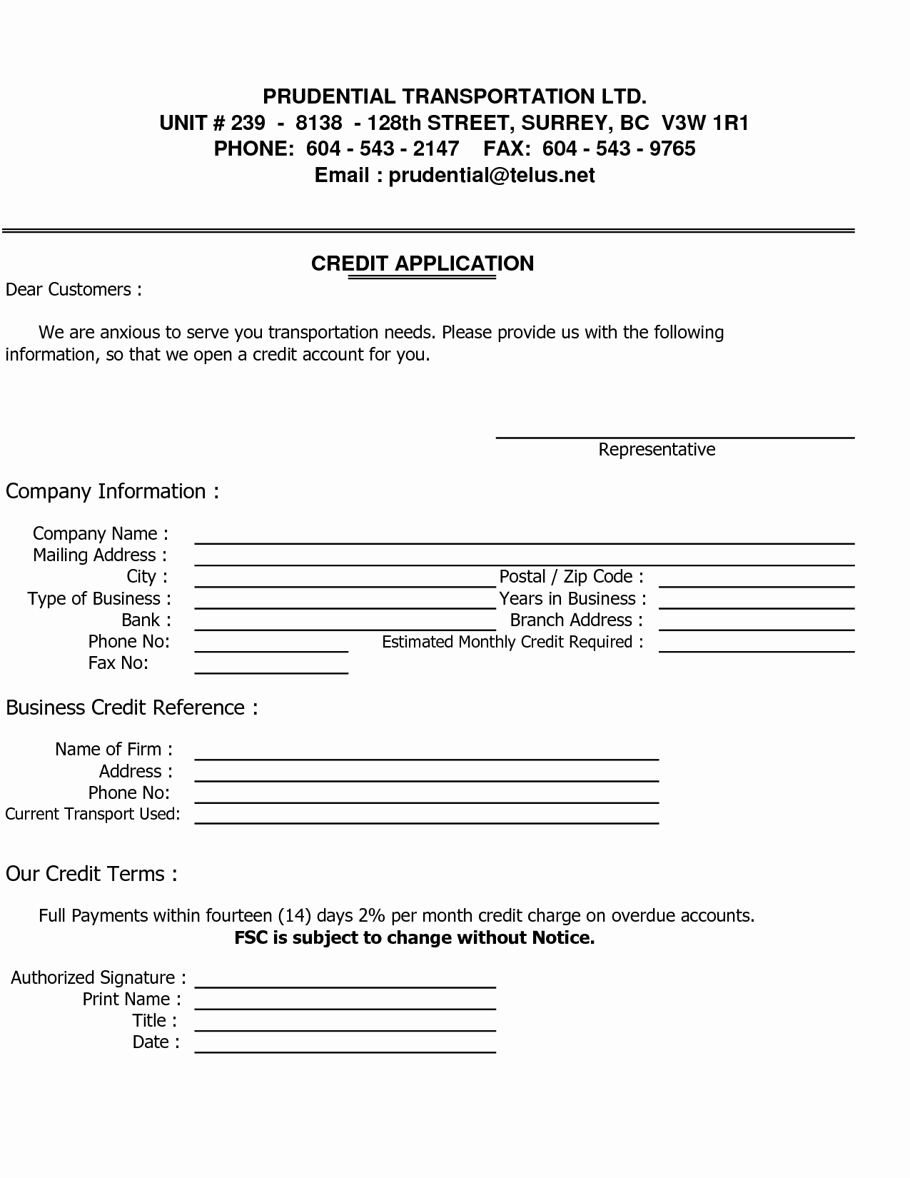 Business Credit Application form Template New Business Credit Reference Template Free Printable Documents