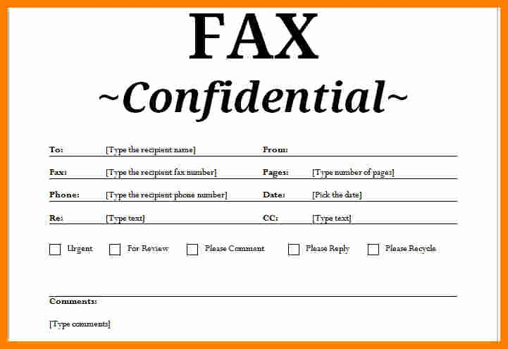 Business Fax Cover Sheet Template Awesome 10 Free Confidential Fax Cover Sheet