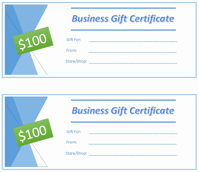 Business Gift Certificate Template Word Awesome Free Gift Certificate Templates 8 Templates