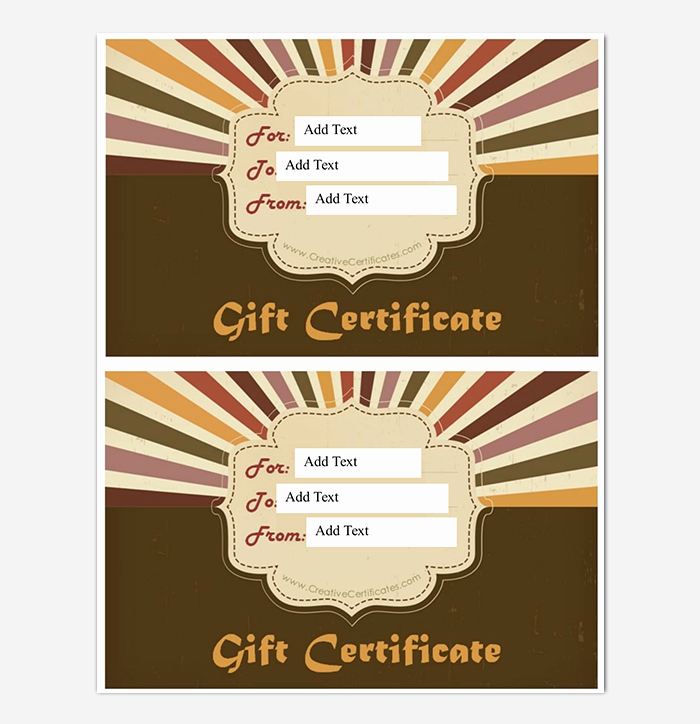 Business Gift Certificate Template Word Beautiful 44 Free Printable Gift Certificate Templates for Word & Pdf