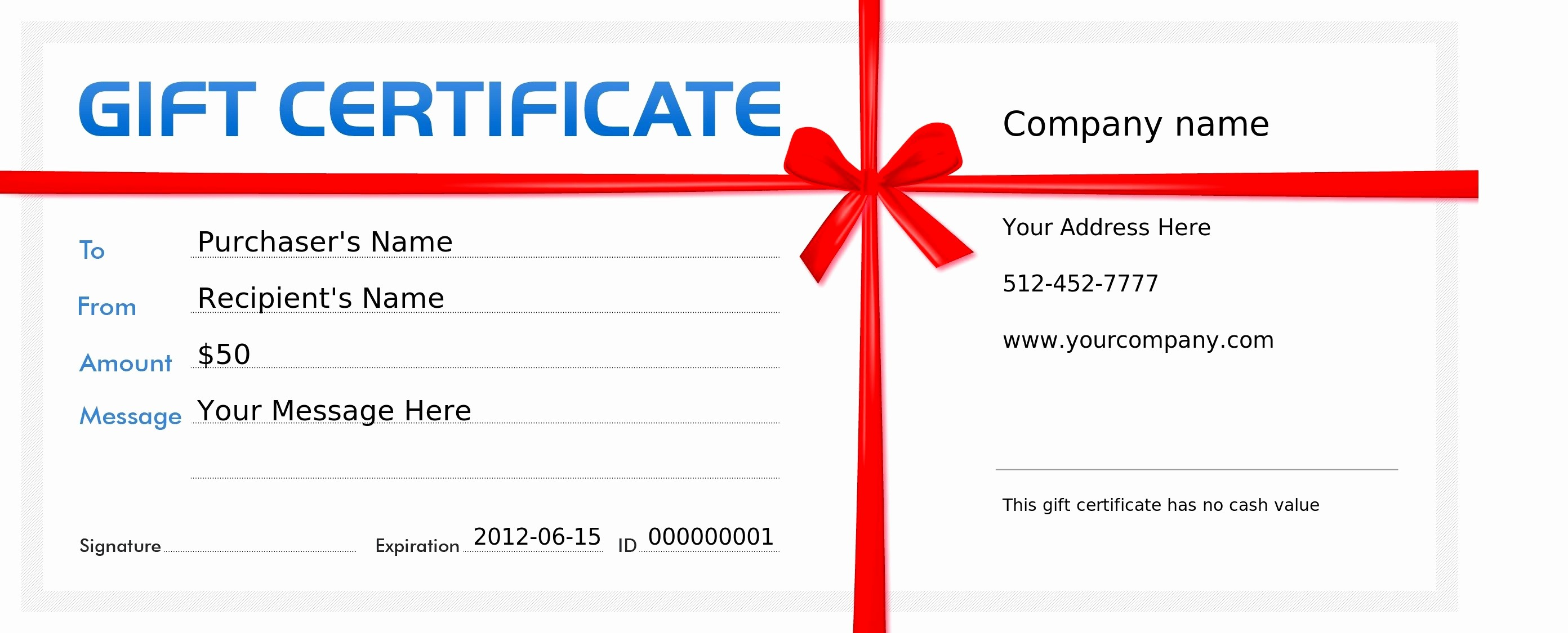 Business Gift Certificate Template Word Elegant Blank Gift Certificate Book Gift Ftempo