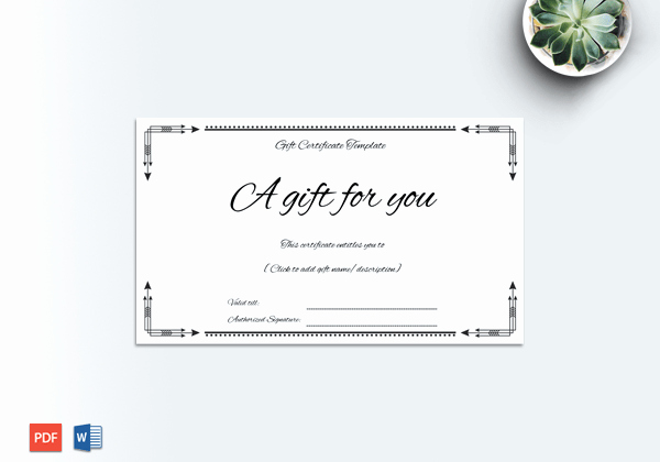 Business Gift Certificate Template Word Elegant Business Gift Certificate Word – Doc formats