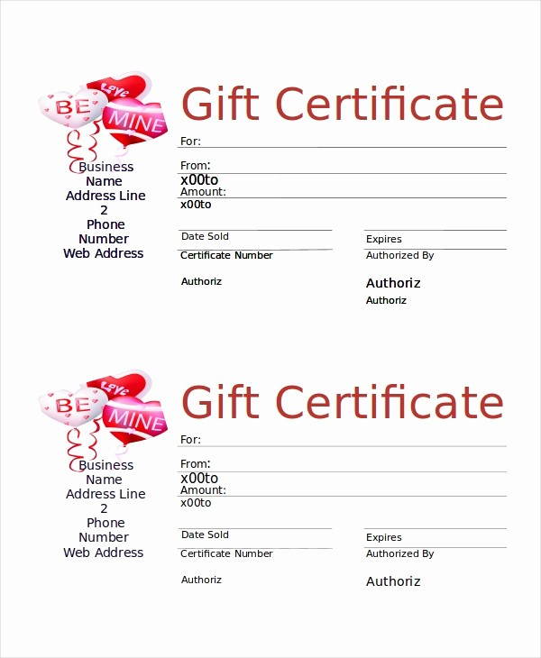 Business Gift Certificate Template Word Inspirational Microsoft Word Certificate Template 5 Free Word
