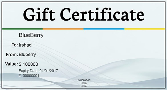 Business Gift Certificate Template Word Lovely Gift Certificate Template – 34 Free Word Outlook Pdf