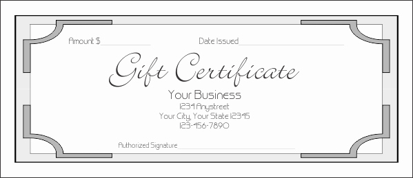Business Gift Certificate Template Word Luxury T Certificate Template