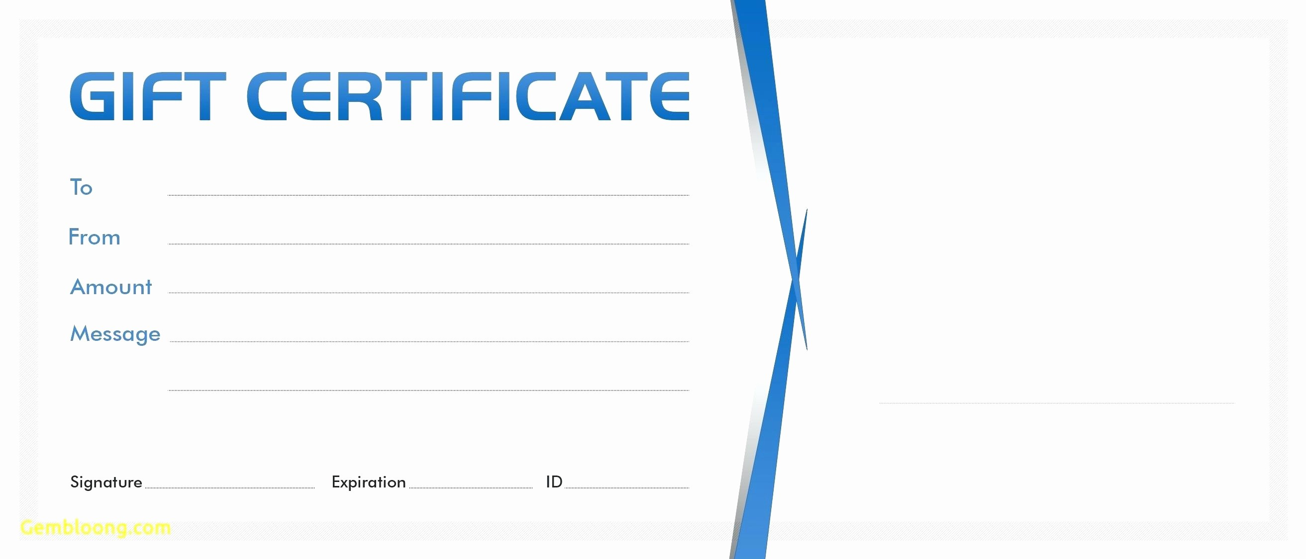 Business Gift Certificate Template Word Luxury Template Gift Certificate Template Microsoft Word