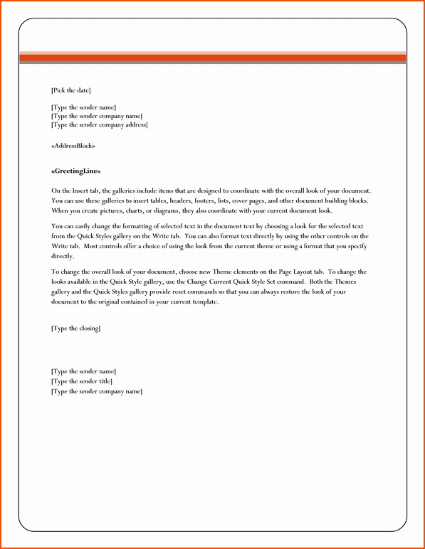 Business Letter format Microsoft Word Luxury 6 Microsoft Word Business Letter Template