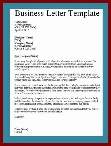 Business Letter format Template Word Elegant Business Letter Template Word
