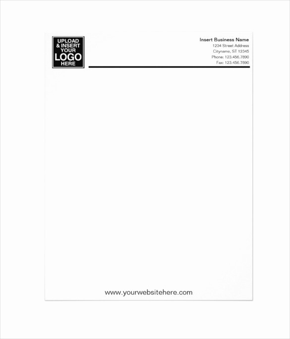 Business Letter Template with Letterhead Awesome 20 Business Letterhead Templates – Free Sample Example