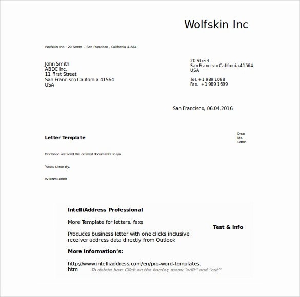 Business Letter Template with Letterhead Best Of 50 Business Letter Templates Pdf Doc