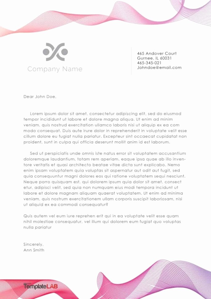 Business Letter Template with Letterhead Elegant 45 Free Letterhead Templates & Examples Pany