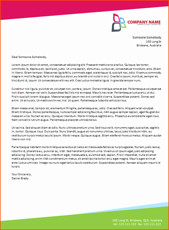 Business Letter Template with Letterhead Fresh 6 Microsoft Word Business Letter Template