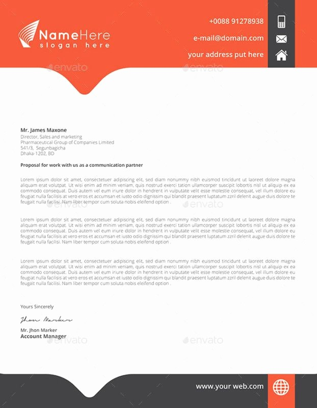 Business Letter Template with Letterhead Fresh Business Letter Head Templates Simple Letter Head