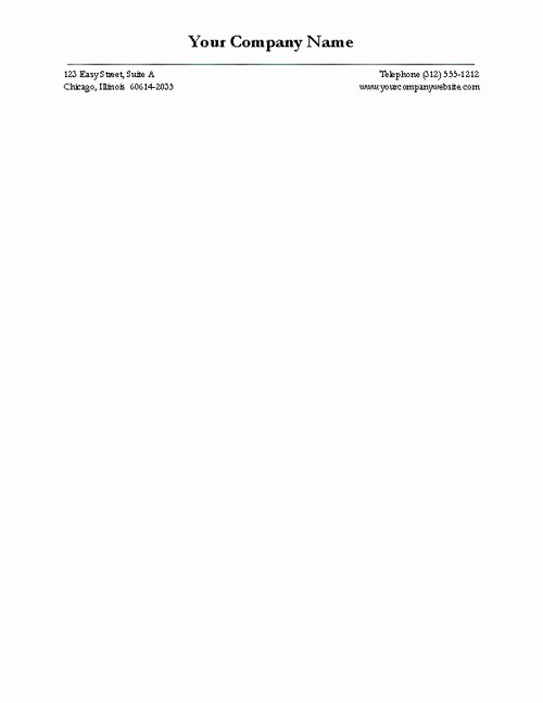 Business Letter Template with Letterhead Inspirational Free Business Letterhead Version Four