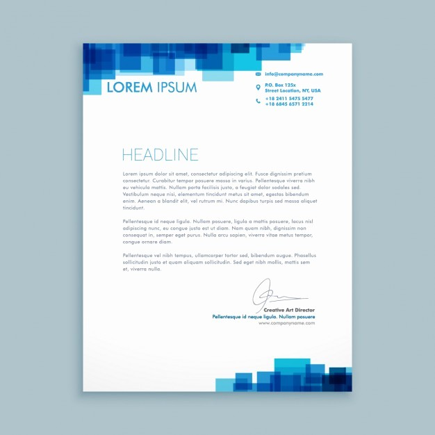 Business Letter Template with Letterhead Luxury Letter Template Design