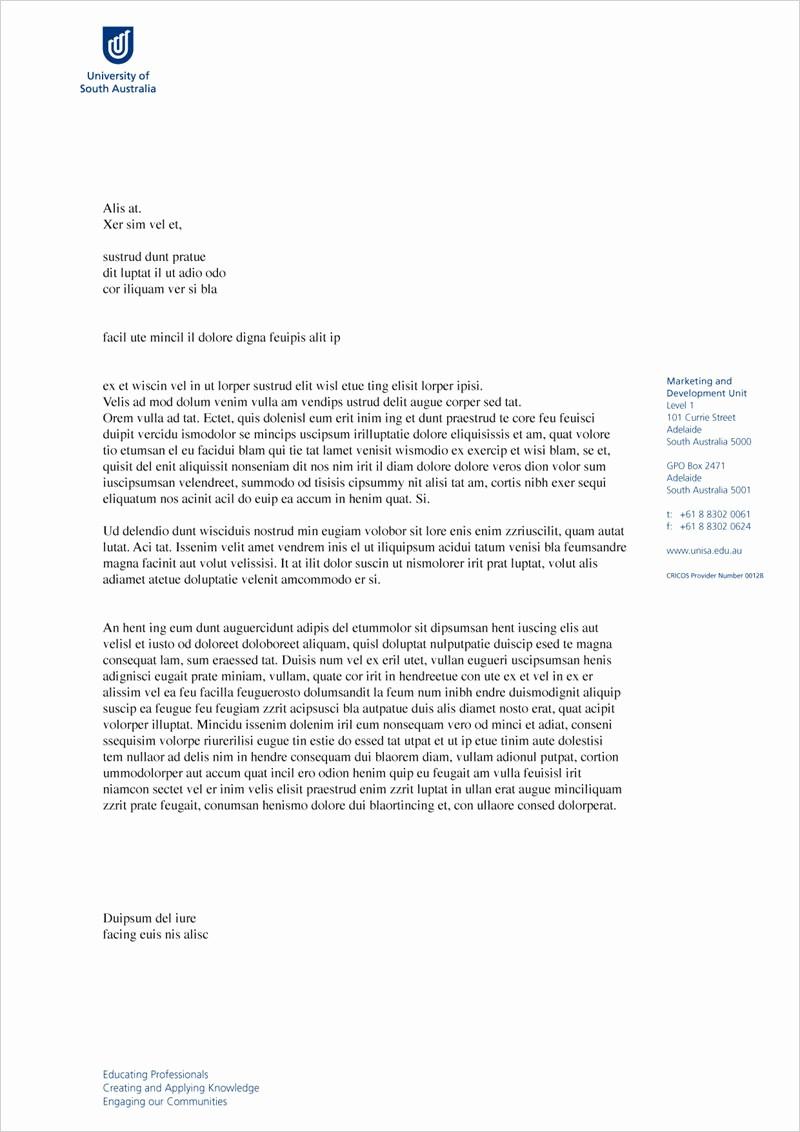 Business Letter Template with Letterhead Luxury Sample Letterhead