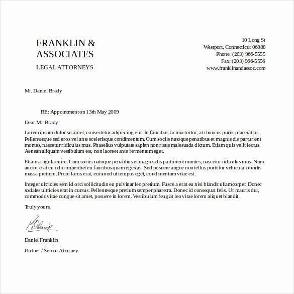 Business Letter Template with Letterhead New 14 Free Letterhead Templates – Free Sample Example