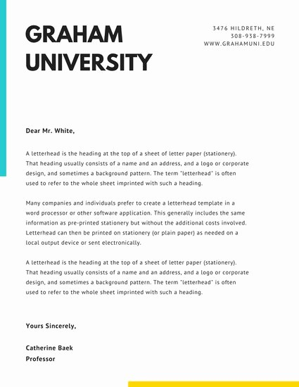Business Letter Template with Letterhead New Customize 81 Ficial Letterhead Templates Online Canva