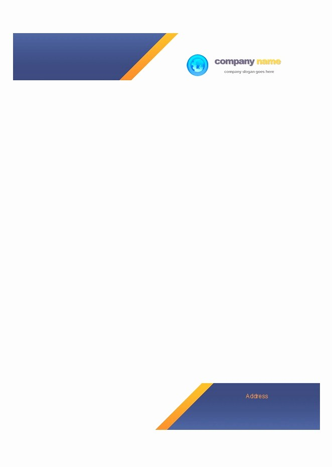 Business Letterhead Templates Free Download Awesome 45 Free Letterhead Templates & Examples Pany