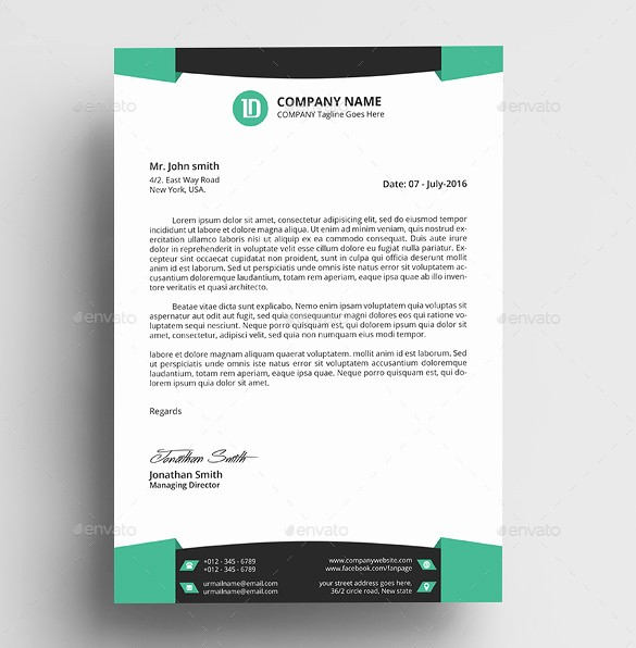 Business Letterhead Templates Free Download Beautiful 37 Professional Letterhead Templates Free Word Psd Ai